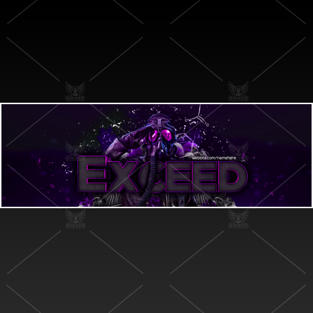"""Mask"" - Twitter GFX Header for Sale (Can change color)"