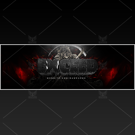 """Reaper"" - Twitter GFX Header for Sale (Can change color)"