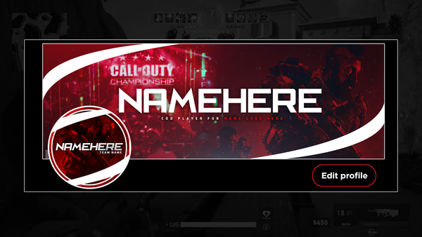 """Team Member"" - Twitter GFX Header & Avi for Sale (Can change color)"