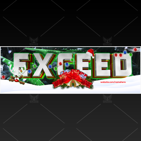 """XMAS - CoD"" - Twitter GFX Header for Sale (Can change color)"