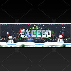 """XMAS"" - Twitter GFX Header for Sale (Can change color)"