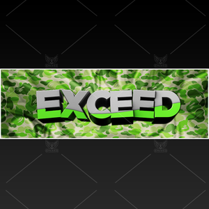 """Camo"" - Twitter GFX Header for Sale (Can change color)"