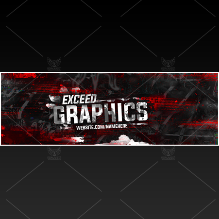 """Glitch"" - Twitter GFX Header for Sale (Can change color)"