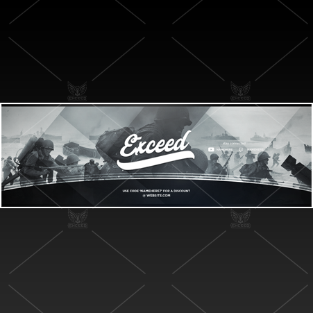 """War"" - Twitter GFX Header for Sale"
