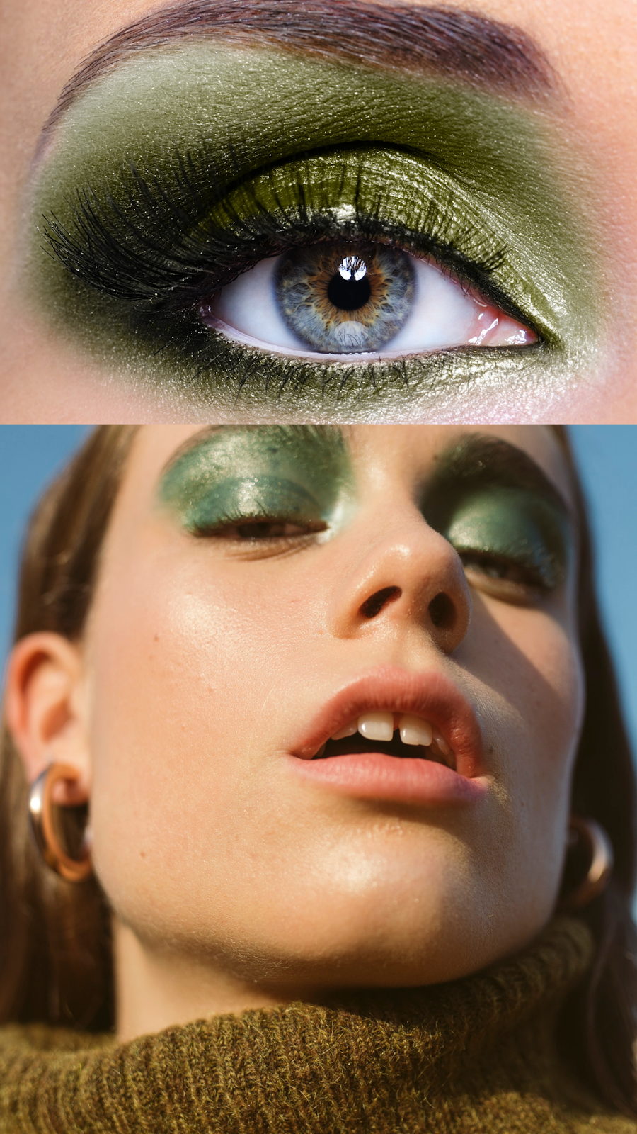 green eyeshadow_ The guilty woman