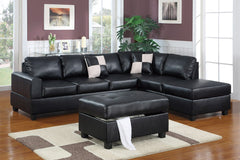 Tullie Sofa with Chaise (black)