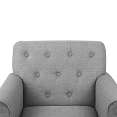 Artiss Wingback Fabric Accent Armchair - Grey