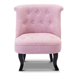 Artiss Kids Fabric Accent Armchair - Light Pink
