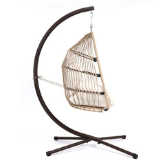 Gardeon Outdoor Furniture Egg Hanging Swing Chair Stand Wicker Rattan Hammock