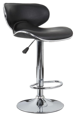 4x Black PU Leather Figure-Eight Kitchen Bar Stools