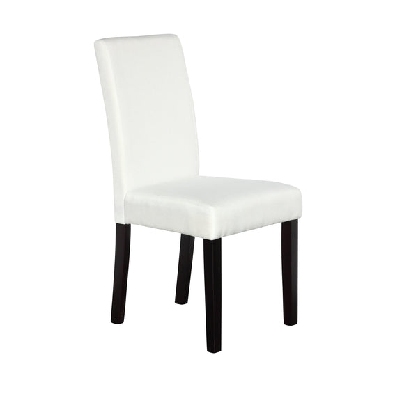 2 x Premium Fabric Linen Palermo Dining Chairs High Back - White