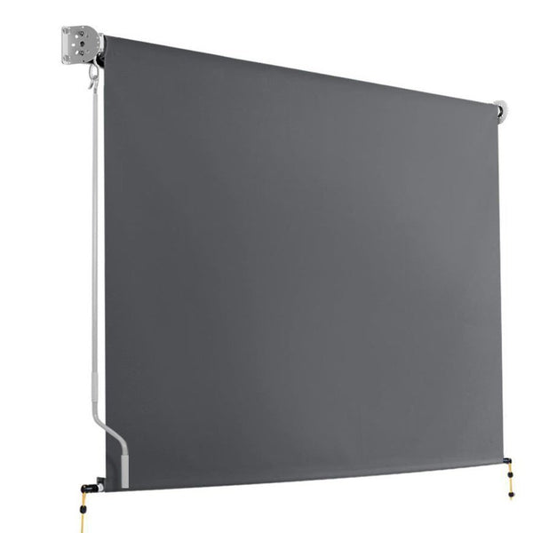 Retractable Straight Drop Roll Down Awning Garden Patio Screen 3.0X2.5M