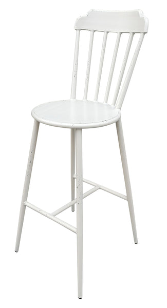 Aluminium Windsor Bar Chair Retro White Set of 2