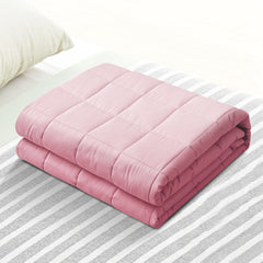 Giselle Weighted Blanket Adult 5KG Heavy Gravity Cooling Blankets Summer Pink
