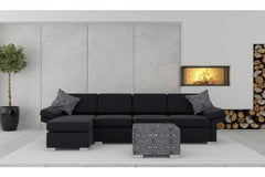 Wembley 3.5 + Chaise ( Black )