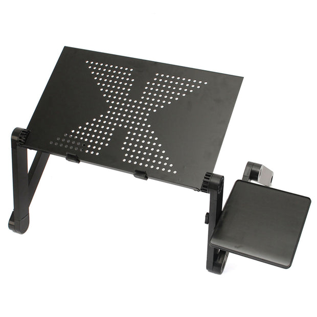 Portable  Aluminum Adjustable Laptop Desk Stand With Mouse Pad - DiS-Lyne