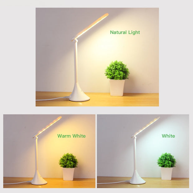 LED Table Lamp Foldable USB Powered 3 Dimming Desk - DiS-Lyne