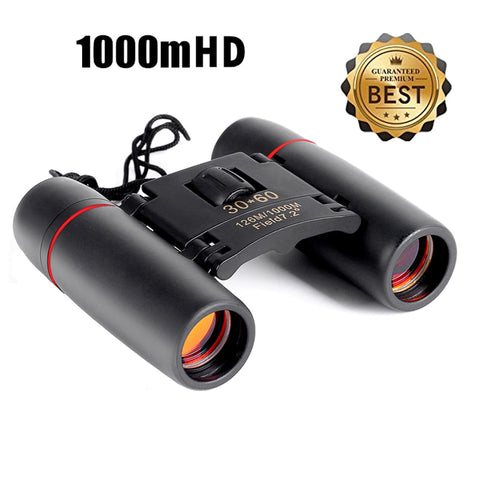 Folding 30x60 Zoom Binoculars with Low Light Night Vision for outdoor 1000m - DiS-Lyne