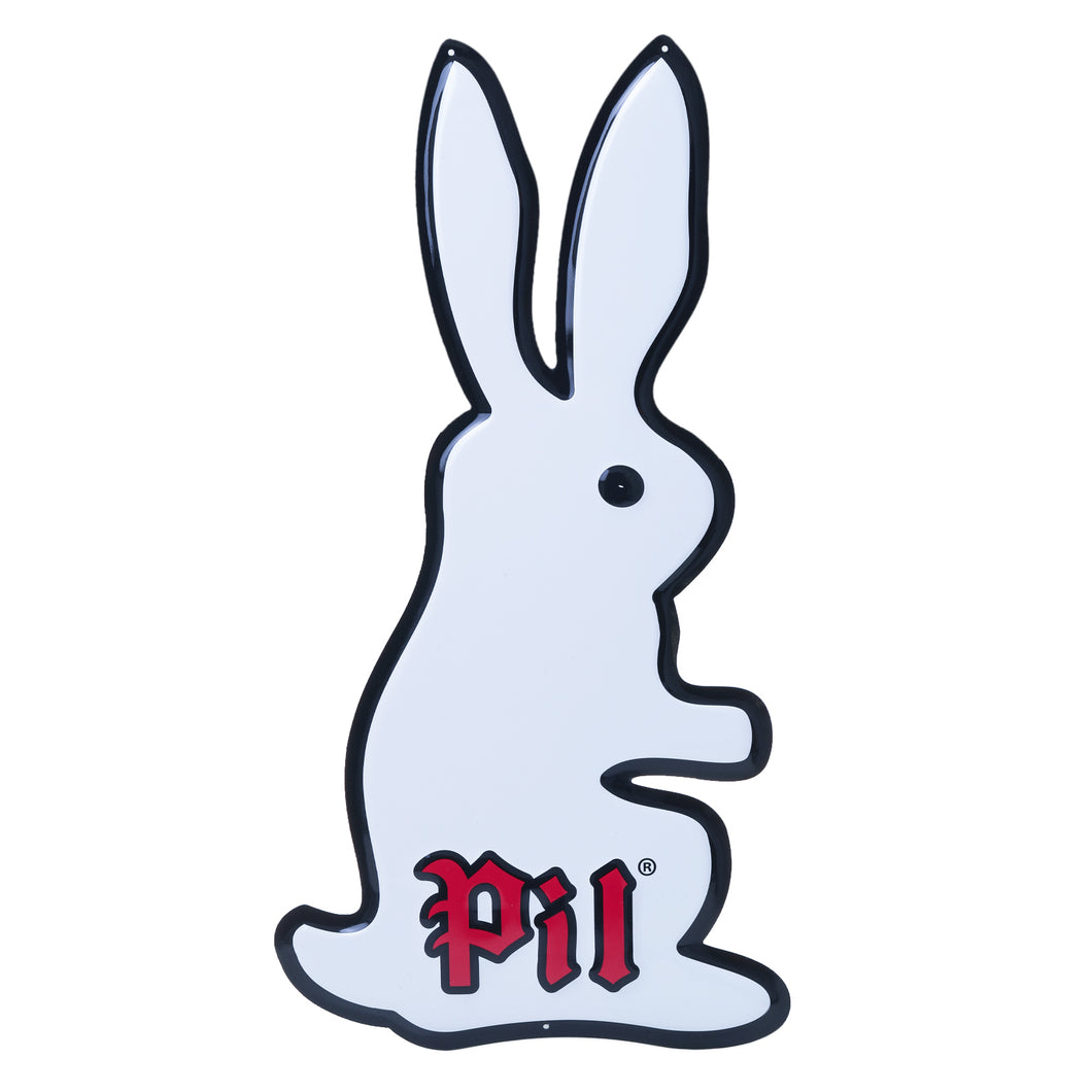 PIL Bunny Metal Tacker Sign