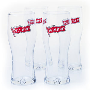 Pilsner Signature Pint Glasses - Set of 4, 20oz