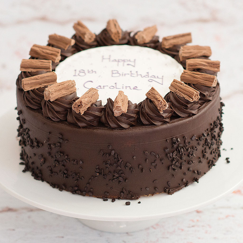 Personalised Chocolate Fudge Cake
