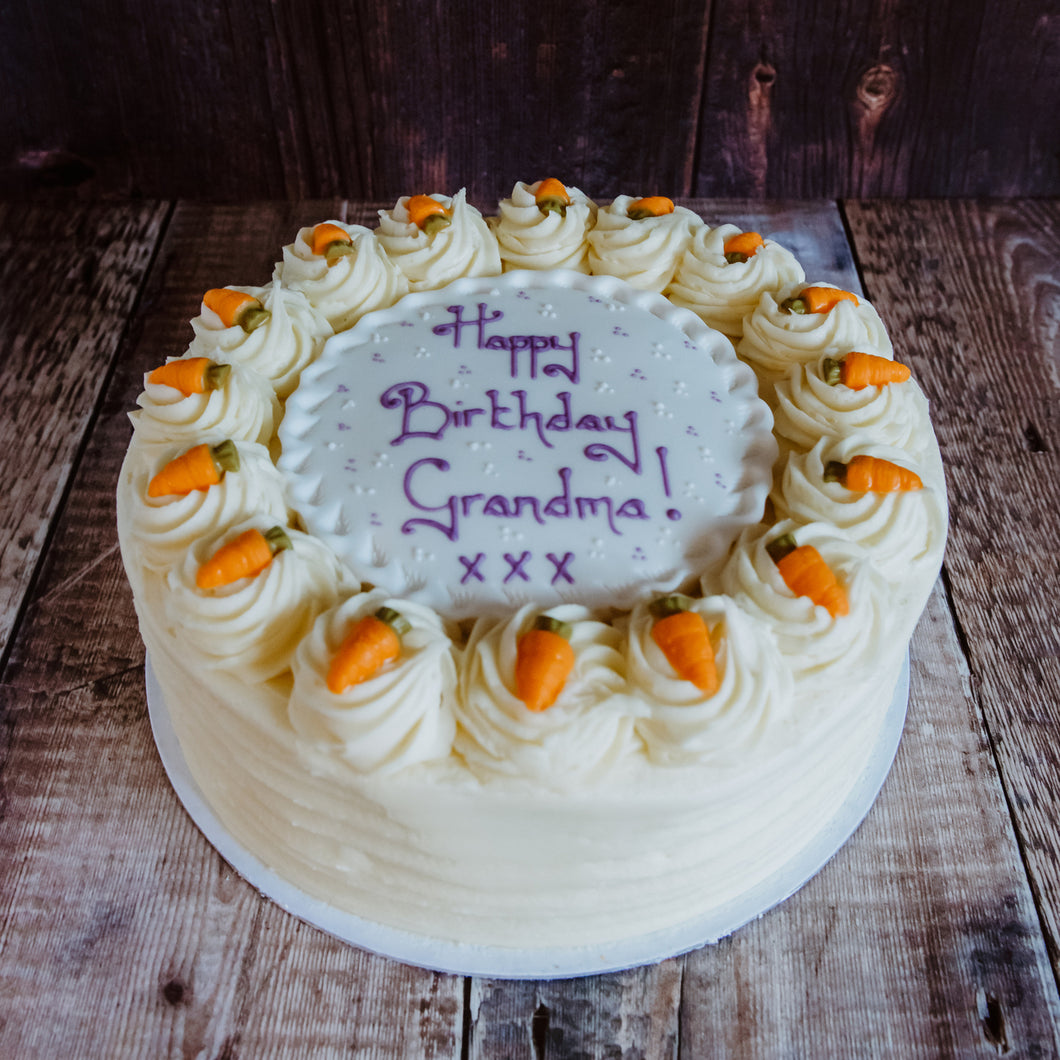Personalised Carrot Cake