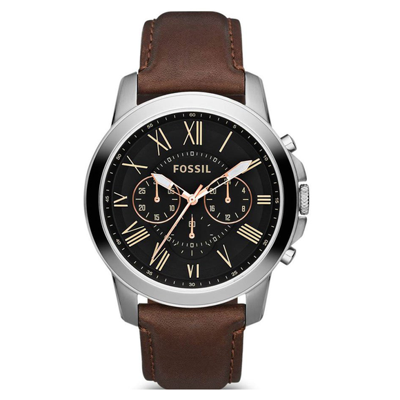 black round dial watch