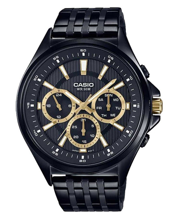 casio enticer analog black dial