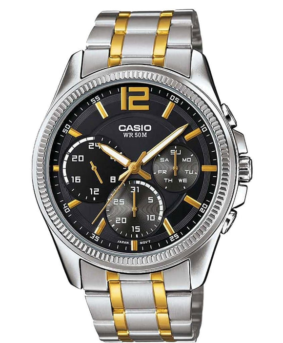 casio enticer black dial men's watch