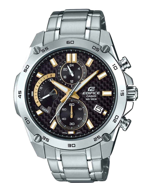 casio edifice black and gold