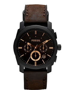 Fossil watch men's brown leather strap