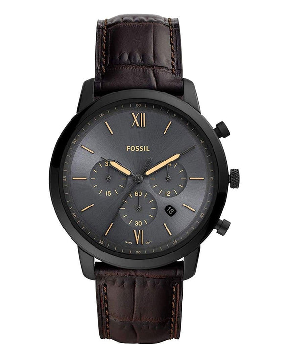 black dial men's watch