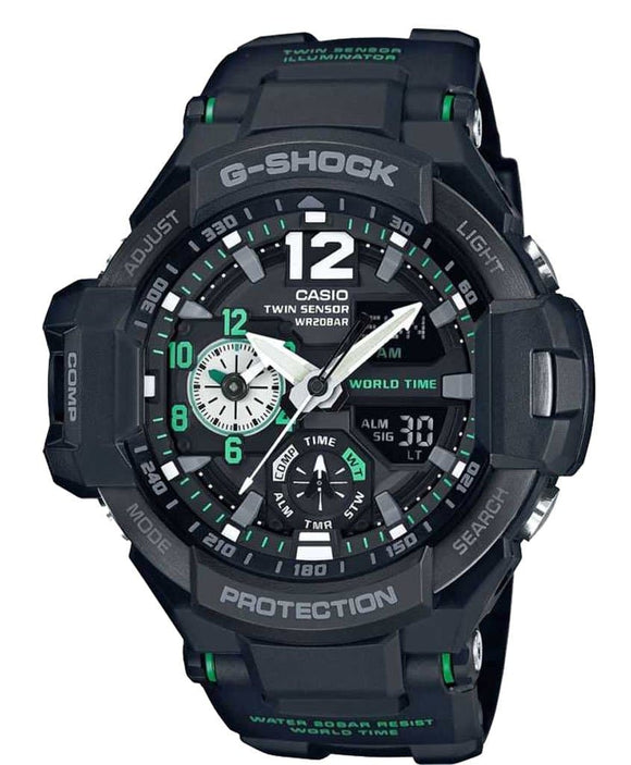 casio g shock black dial
