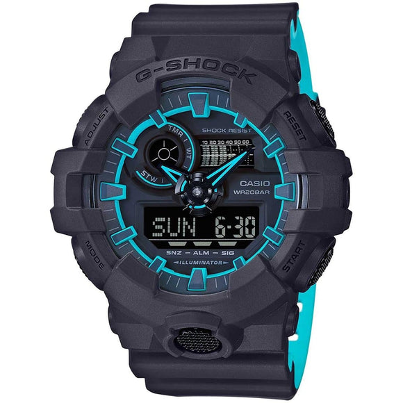 g shock black and blue