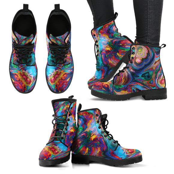 Abstract Oil Paintings P1 - Leather Boots for Women
