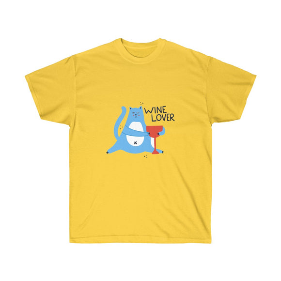 Cat Wine Lover Unisex T-shirt