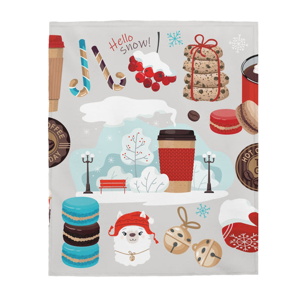 Let It Snow Velveteen Plush Blanket