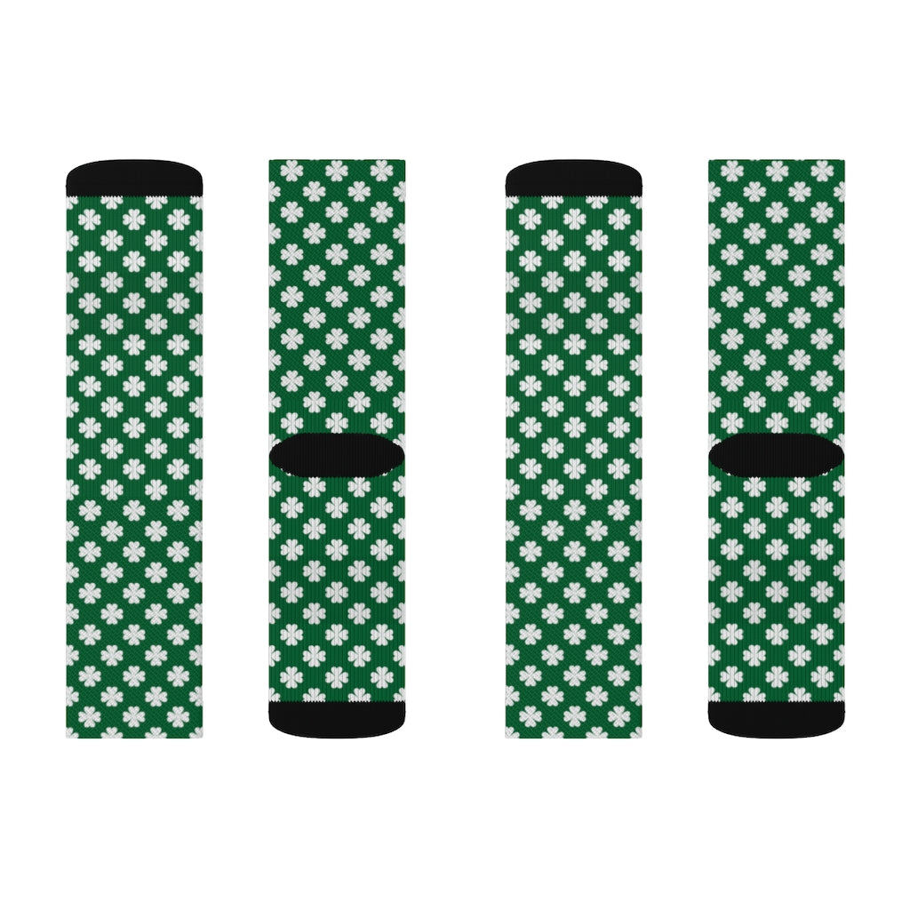 Irish Clover Sublimation Socks