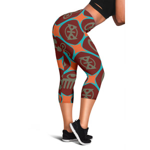 Adinkra Pattern Leggings
