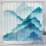 Serene Mountains Shower Curtain