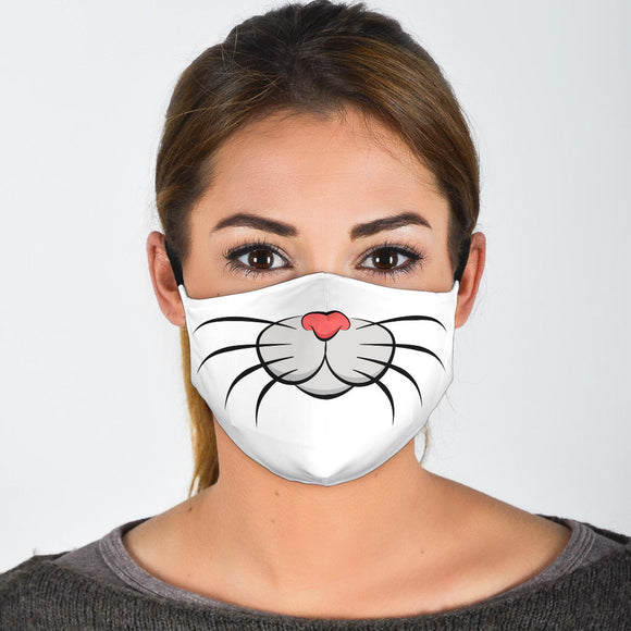 Cat whiskers face Mask