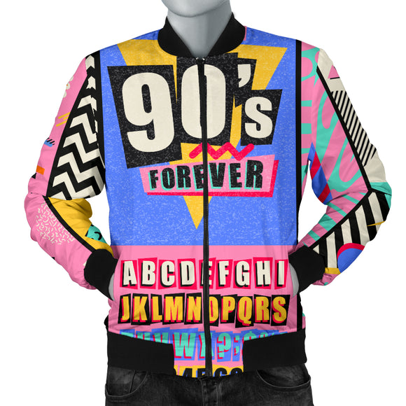 Retro 90's Bomber Jacket