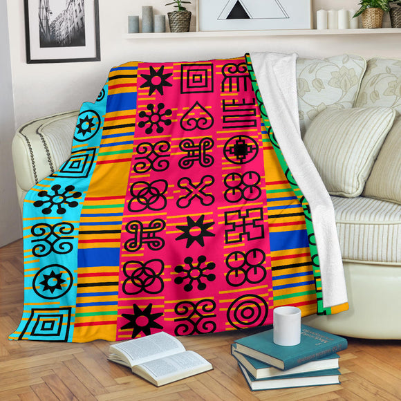 Mixed Adinkra kente blanket