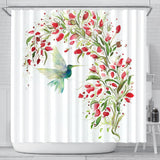 Springtime Hummingbird Shower Curtain