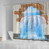 3D -Water Leak Shower Curtain