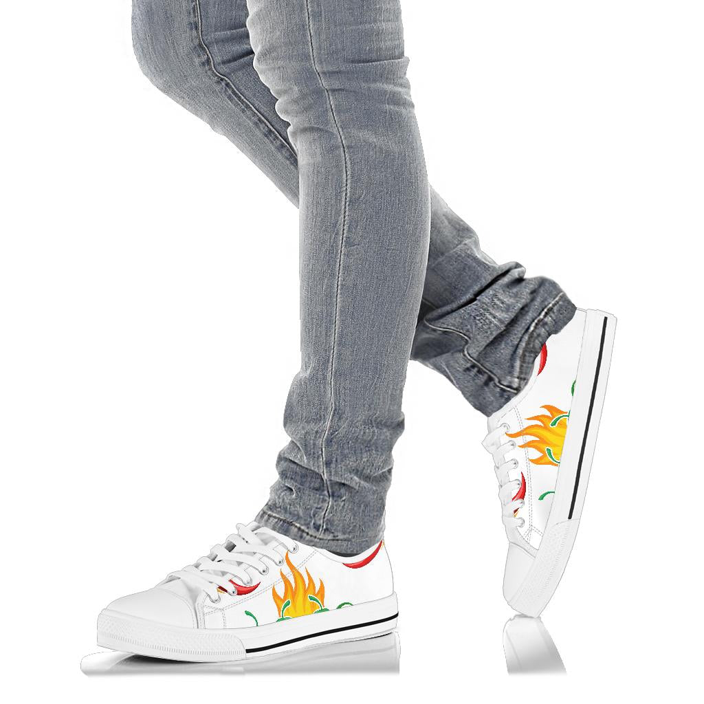 Unisex Flaming chilies - Low top Canvas shoes