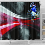 Eagle flying Shower Curtain