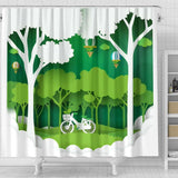 A day in the Park 3d Shower Curtain