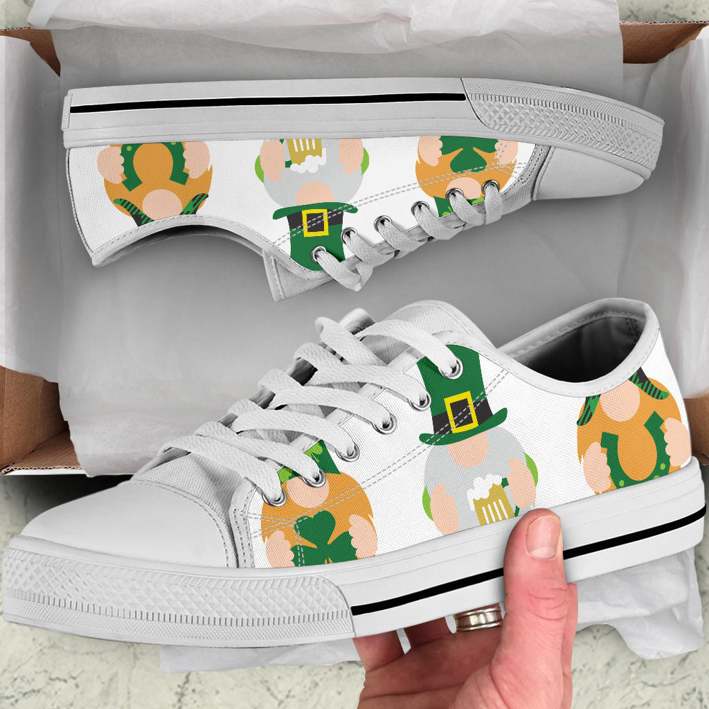 Unisex 3 Lucky Gnomes - Low top canvas shoes
