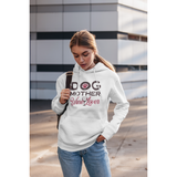 Unisex Dog Mom wine lover hood sweatshirt